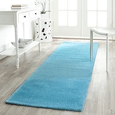 Safavieh Himalaya Collection HIM610A Handmade Turquoise Wool Area Rug