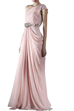 74244c854a Adorona Pleated One Shoulder Floor Length Chiffon Special Occasion  Bridesmaid Dress