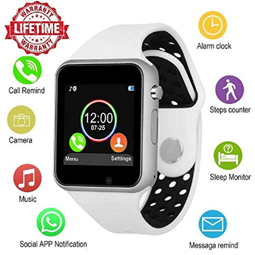 Bluetooth Smart Watch Anti-Lost Smartwatch Touch Screen with SIM Card Slot Camera Music Player Support Android Samsung Huawei Sony iOS iPhone, Sweatproof Sports Fitness Tracker for Women Men Kids