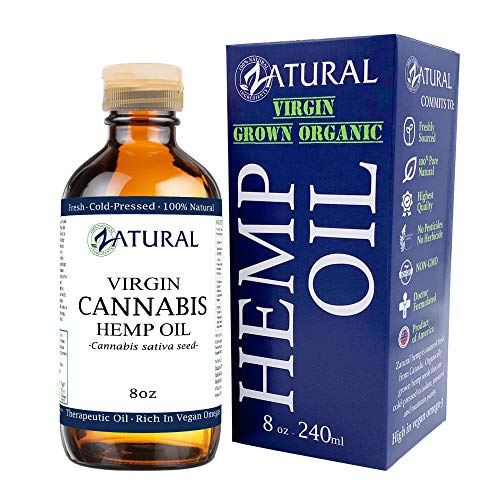 Hemp Oil Anti-Inflammatory_Pain Relief_100% Pure_Cold Pressed_High Vegan Omegas 3 & 6_No Fillers or Additives, Therapeutic Grade (8 Ounce) (Best E Cig For Weed Oil)