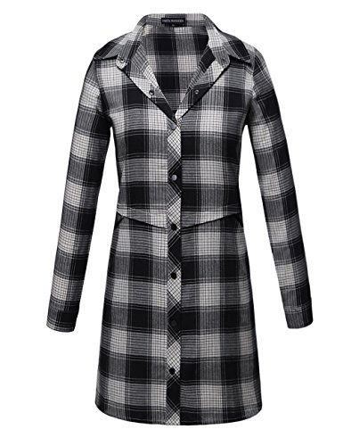 Button Up Flannel Shirt Coat Jacket