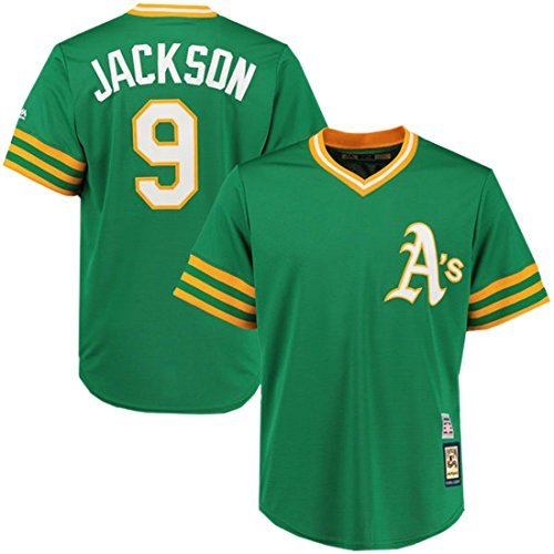 Reggie Jackson Oakland Athletics Cooperstown Cool Base Réplica Green Jersey Camiseta