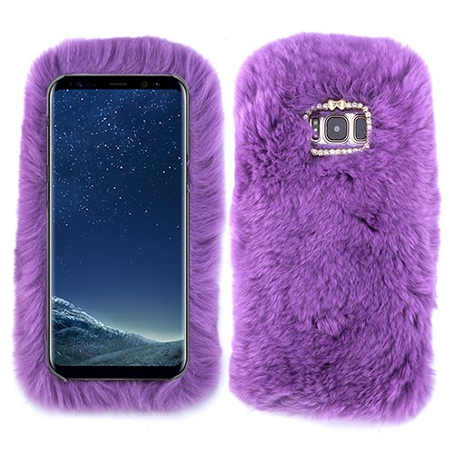 finest selection 8e63d 28f09 for Samsung Galaxy S6 Light Purple Fur Furry Fluffy Case Soft Cover with  Free Pouch