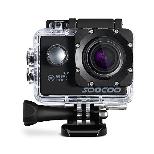 WIFI Action Camera, SOOCOO Waterproof Action Camera 12MP Full HD 1080P - 2.0