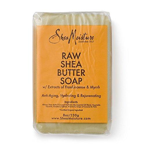 Shea Moisture Raw Butter Bar Soap, 8 Ounce (Bar Soap Body Butter)