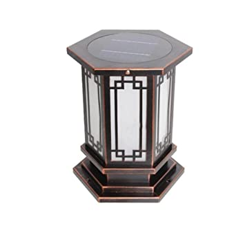 ELEGENCE-Z Lampe Solaire 3w 24LED Jardin Chinois Grand Pilier Lampe ...