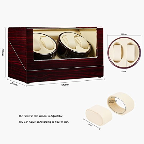 JQUEEN Automatic Quad Watch Winder with Double Quiet Mabuchi Motors by JQUEEN (Image #5)
