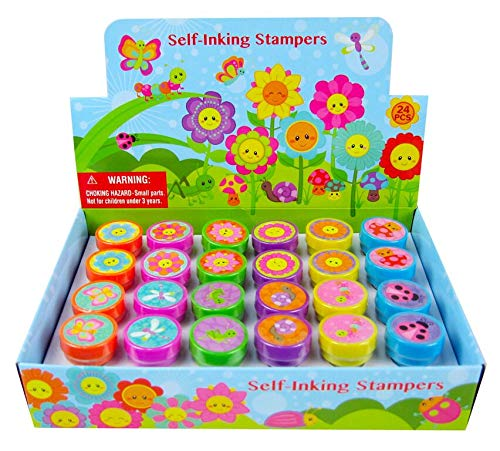 Flower Stampers - TINYMILLS 24 Pcs Spring Flowers Stampers for Kids