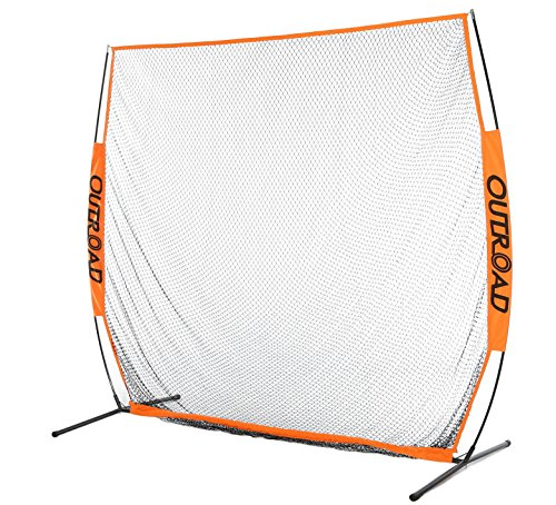 OUTROAD 7×7 ft Portable Golf Hitting Pitching Practice Net for Outdoor Training w/ Carry Bag