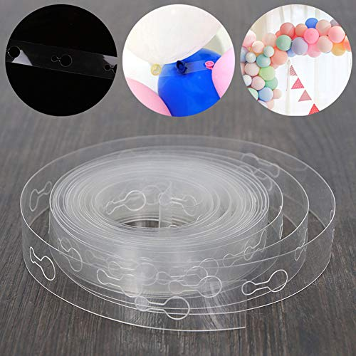 ink2055 5m Balloon Chain Tape Arch Connect Strip for Wedding Birthday Christmas Party Decor - 5M 410 Holes ()