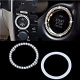 Cheap CALAP STORE – 1Pc New Arrivals!!! Car SUV Bling Decorative Accessories Button Start Switch Silver Diamond Ring New