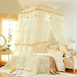 Court,Fang Top Luxury Mosquito Net/High Denisity,Double Bed Fashion,Ceiling Bed Net/Thicken,Dormitory Fine,Single Landing Nets-A E