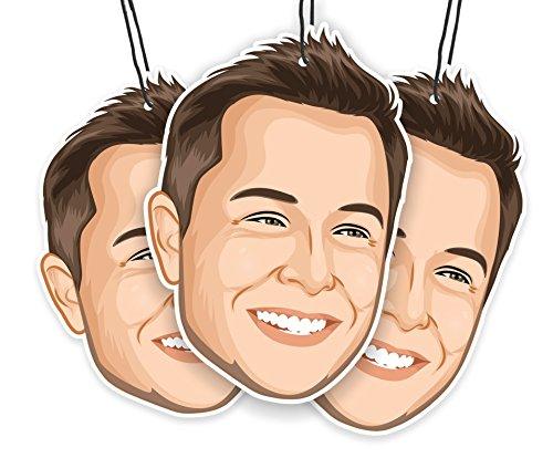 Elon's Musk Air Freshener (3-pack) (Tesla Model Christmas X)