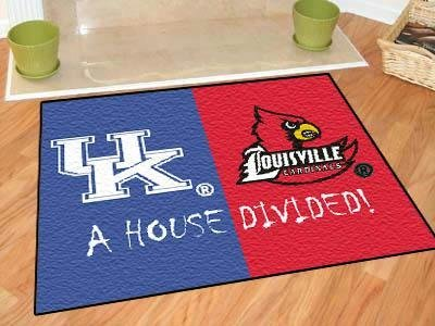 (Fan Mats Kentucky-Louisville House Divided Rug, 34