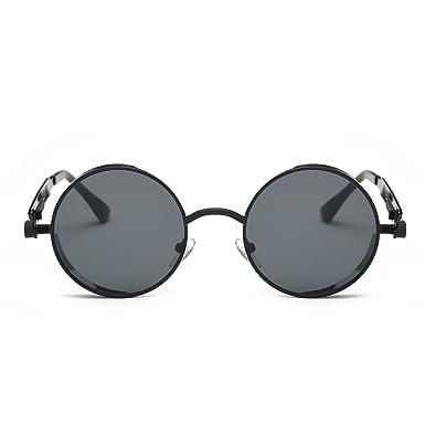 Amazon.com: Steampunk Round Sunglasses, Vintage Hippie Circle ...