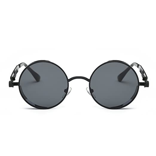 d1ab44f6cc5 Amazon.com  Steampunk Round Sunglasses