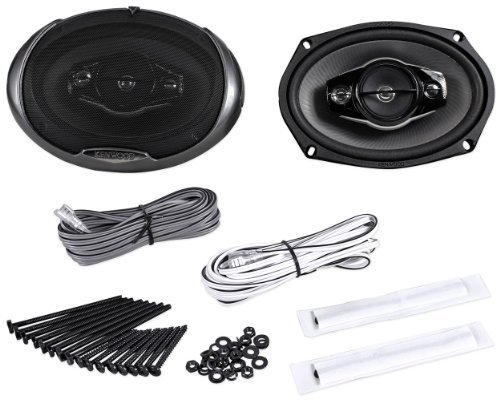 "Pair of Brand New Kenwood KFC-6984PS 6""x9"" 4-Way Car Audio Coaxial Speakers With 2-3/4"
