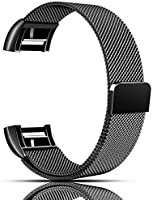 For Fitbit Charge 2 Bands, Vancle Adjustable Milanese Loop Stainless Steel Metal Band Bracelet Strap with Magnetic...