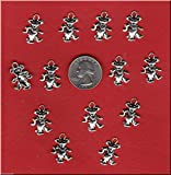 100 Grateful Dead - Silver Tone Dancing Bear Metal Charms DIY Crafting by WCS