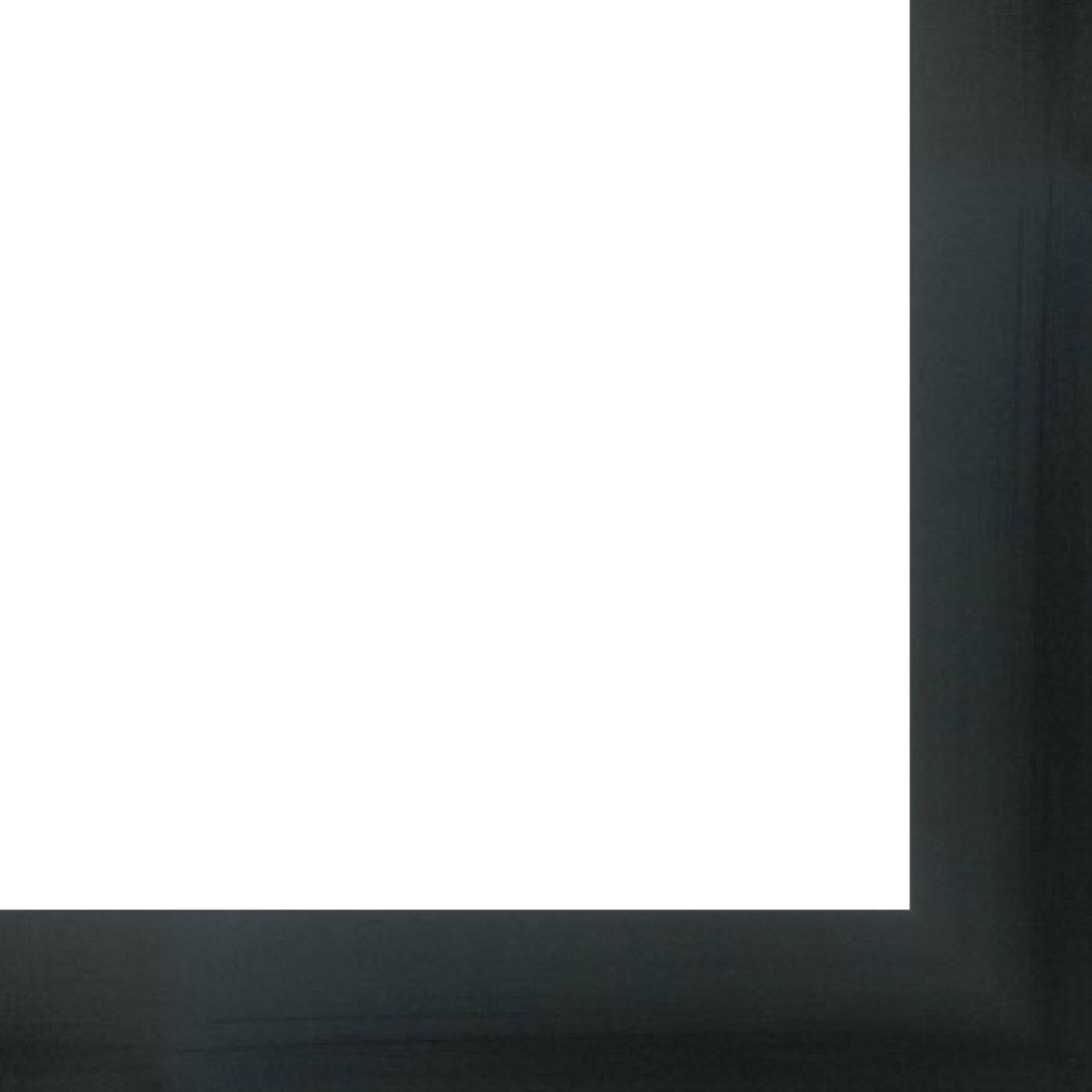 Canvas Floater Frame Moulding (Wood) 18ft bundle - Contemporary Black Finish - 1.5'' width - 7/8'' rabbet depth