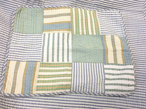 Spa Striped Patchwork 3-Piece Quilt Set (Full/Queen Size) by Cozy Line Home Fashions (Image #4)