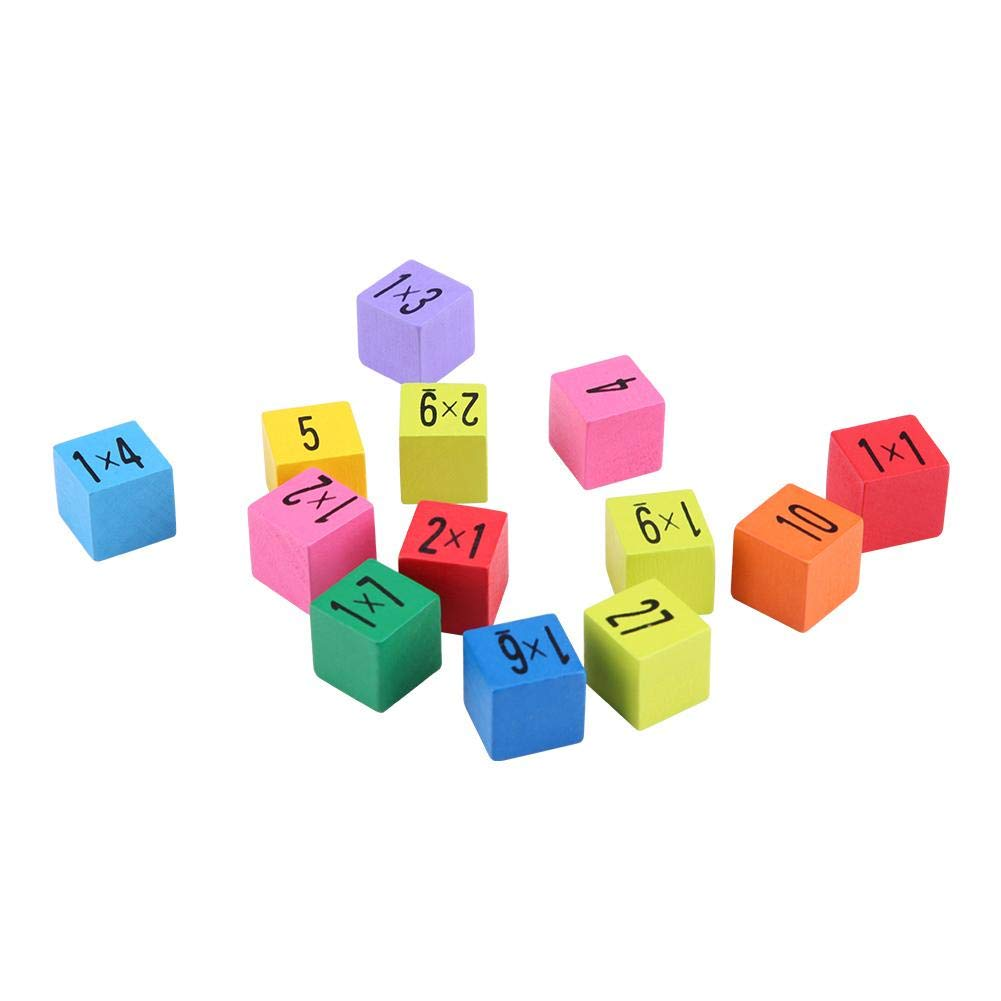 Hztyyier Baby Wooden Blocks Toy Mathematics Educational Wooden Toys Multiplication Table Kids Baby Blocks Puzzle for Kids