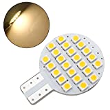 20x Grv T10 LED Light Bulb 921 194 192 C921 24-3528 SMD Super Bright Lamp DC 12V 2 Watt for Car RV Boat Ceiling Dome Interior Lights Warm White (2nd Generation)