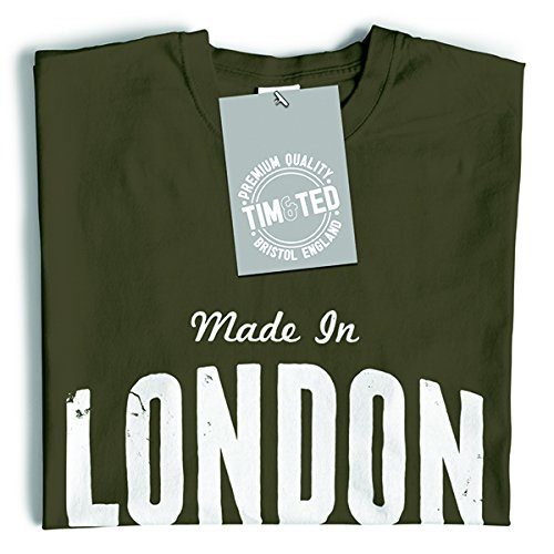 Made in London St Pauls Eye Buckingham Big Ben Deterioramento, Design, T-Shirt Da Donna