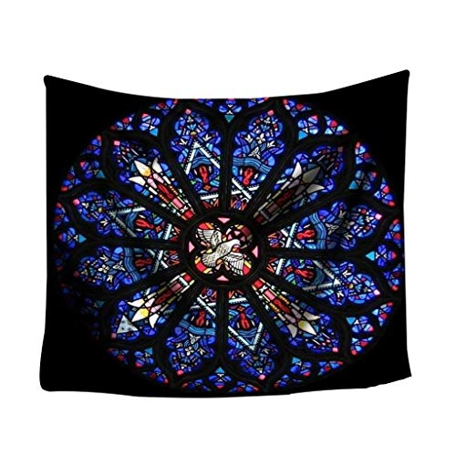 Euone Clearance Sales,Colorful Print Tapestry Art Room Notre Dame Wall Hanging Tapestry Art Nature