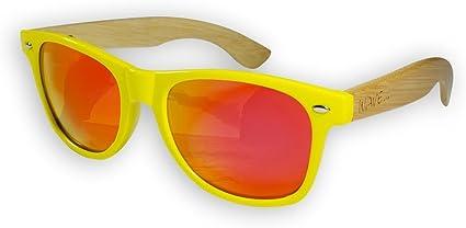WH1105 One Size Wave Hawaii Sonnenbrille Burner Gelb