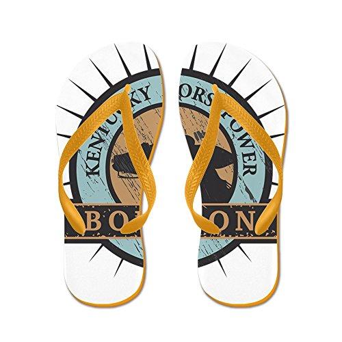 CafePress Kentucky Horsepower - Bourbon - Flip Flops, Funny Thong Sandals, Beach Sandals Orange