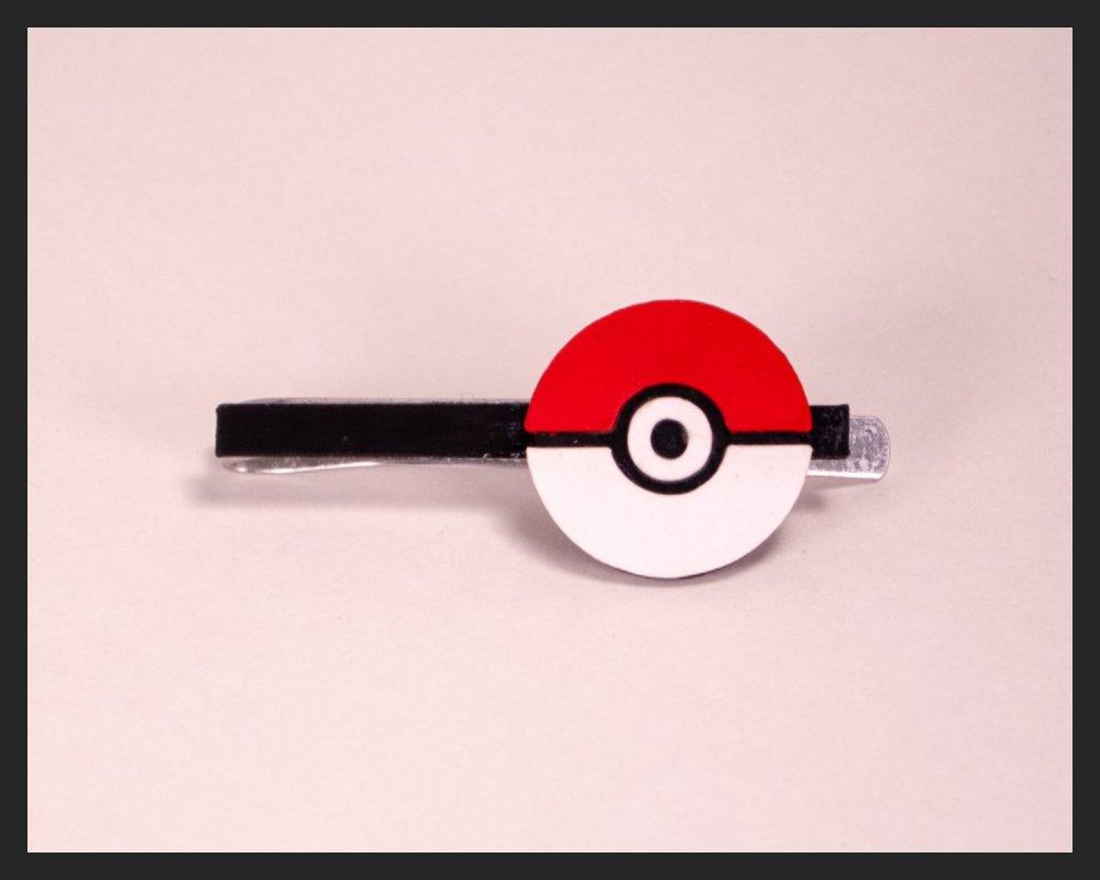 Pokemon Pokeball Cufflinks or Tie Clip