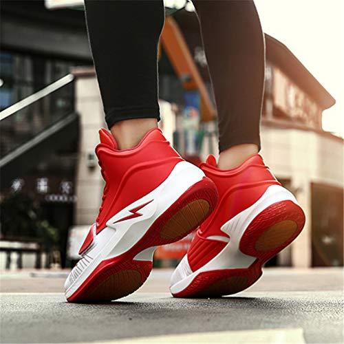Pallacanestro Scarpe Preparazione da All'Aperto Stivali Sport Rosso Ginnastica degli Qianliuk Antiscivolo Atletica Scarpe Uomini Traspirante HtqHvcdw