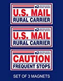stop service - Set of 3 U.S. Mail Delivery Magnetic Signs Rural Delivery Carrier Magnet 6