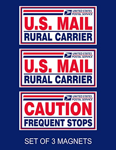 Set of 3 U.S. Mail Delivery Magnetic Signs Rural Delivery Carrier Magnet 6