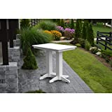 A & L Furniture Recycled Plastic 48'' x 33'' Bar Table