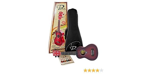 Pukanala PK-HBS - Ukelele soprano, color rojo: Amazon.es: Instrumentos musicales