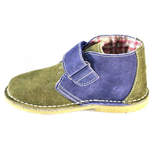Naturino - Naturino Scarpe Bambino Verde Militare Blu Pelle Strappi Velcro 4702 - Vert, 22