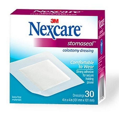 Nexcare Stomaseal Colostomy Dressing, 4 x 4 in. - Case of 300