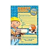 Amscan Bob The Builder 20 Paper Invite