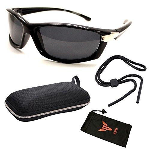 Polarized Lens Black Out Sport Wrap Sunglasses Eyeglasses For Men Women + - Warby Sunglasses