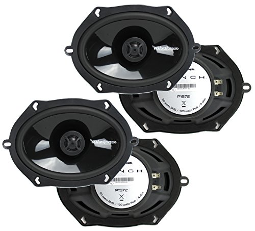 "2 Pairs of Rockford Fosgate P1572 5x7"" Punch Series 2-Way Coaxial Car Speakers"