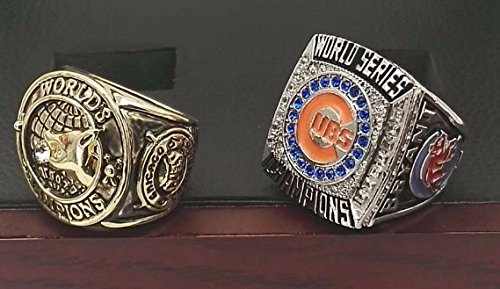 Chicago Cubs World Series Ring Set - 1907 and 2016 Replic...