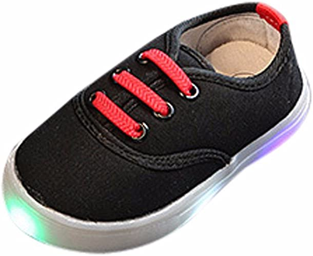 Kids Shoes With Light Boys Girls Children Canvas Sport Led Luminous Sneakers