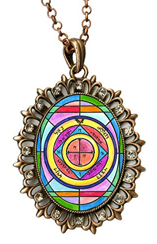Solomons 5th Saturn Protection of Home From Theft Copper Rhinestone - Rhinestone Pendant Copper