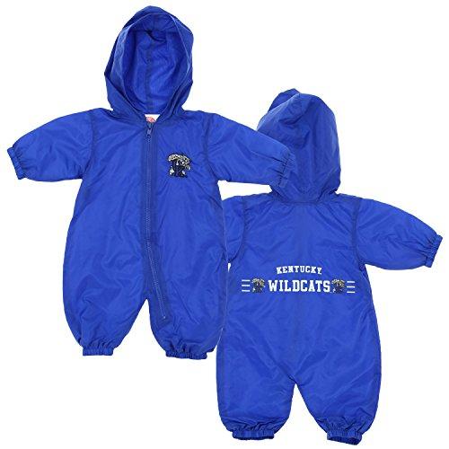 Kentucky Wildcats NCAA Baby Boys Hooded Windbreaker Coverall, Blue