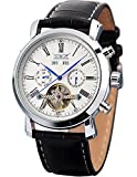 AMPM24 Elegant Men Leather Automatic Mechanical White Dial Date & Day Wrist Watch PMW017