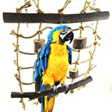 Legendog Bird Swing Toy Rope Bird Toy Bite Resistant Climbing Ladder Cage Hanging Toy Parrot Play Toy
