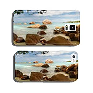 Seychelles beach panorama lagoon with rocks cell phone cover case Samsung S5