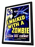 I Walked With a Zombie 27 x 40 Movie Poster - Style A - in Deluxe Wood Frame